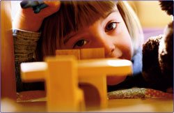 Girl with blocks