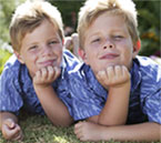 Photo of twin boys illustrating autism twins research