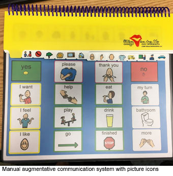 Augmentative communication device, courtesy of Kennedy Krieger Institute