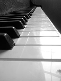 Photo of piano keys, for article on autism and perfect pitch
