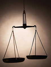 Photo of scales of justice, illustrating autism and crime article