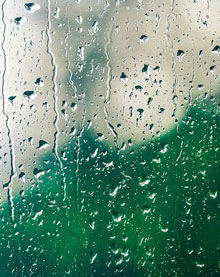 photo illustration of a rainy window by Pixabay
