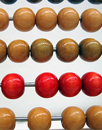 Photo of abacus, to illustrate studies of the number of children who lose an autism diagnosis