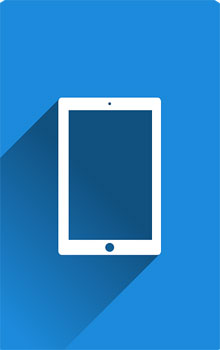 illustration of an iPad tablet, used in communication apps for autism, by Pixabay