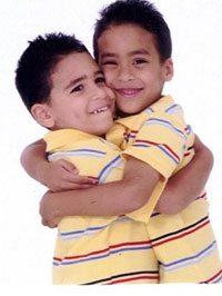 Photo of twin boys, reprinted with permission