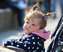 Photo of girl in stroller