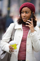 Photo of woman on cell phone